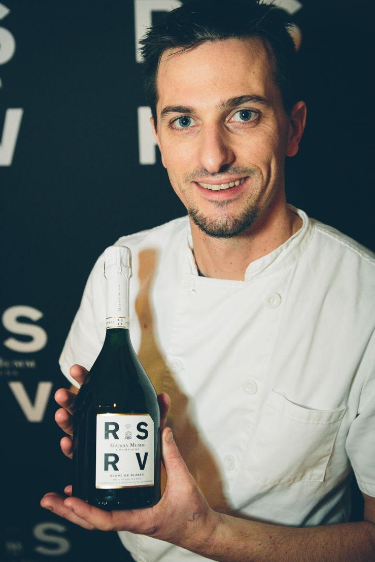 Alex Joseph, vriend van Maison Mumm en chef van het restaurant Rouge Tomate