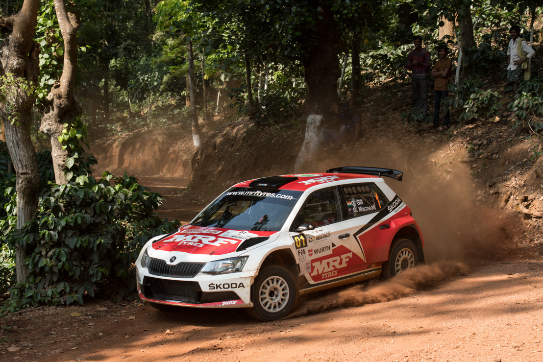 ŠKODA enters FIA Asia-Pacific Rally Championship Gill and youngster Veiby compete in MRF ŠKODA FABIA R5
