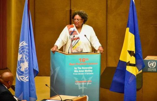 Prime Minister of Barbados Hon. Mia Mottley delivers the 16th Raúl Prebisch Lecture