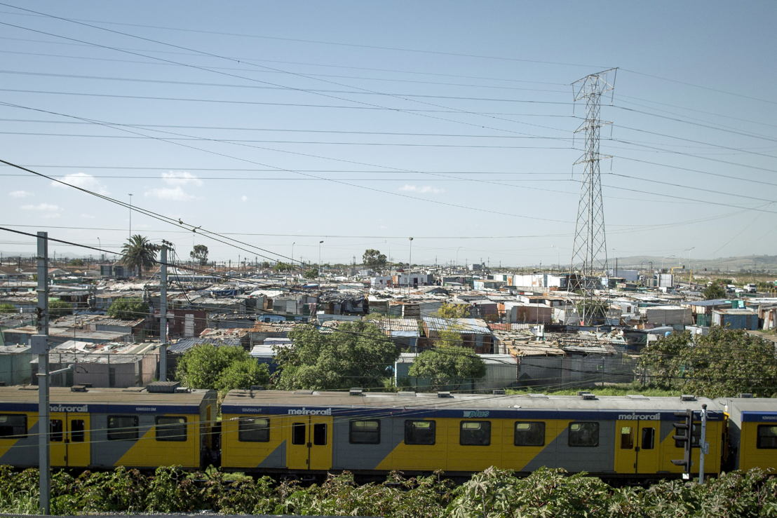 View of Khayelitsha in Western Cape, South Africa. Photographer: Sydelle WIllow Smith