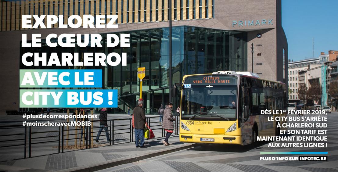 Le City Bus relie la gare de Charleroi Sud et régularise sa tarification