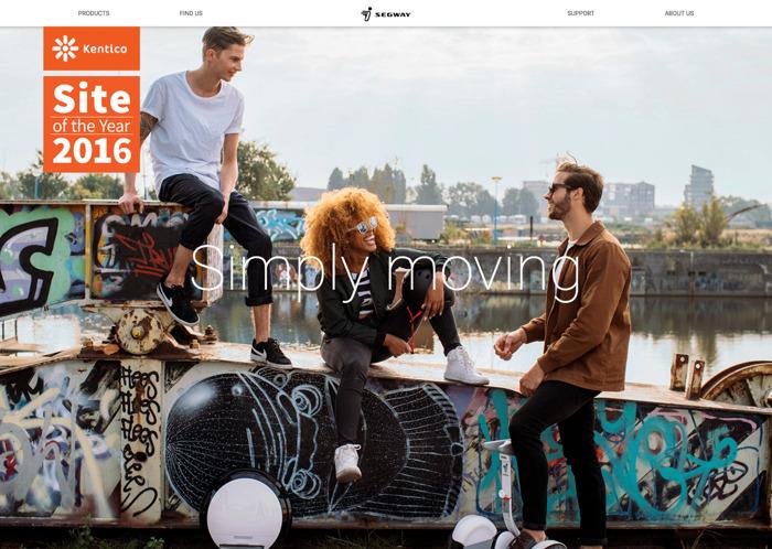 Emakina wint Kentico Site Of The Year Award met Segway Europe