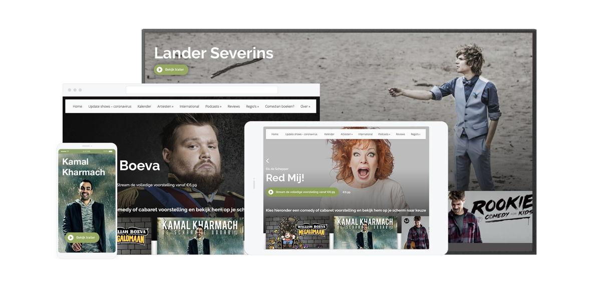 LiveComedyTV is beschikbaar op alle schermen