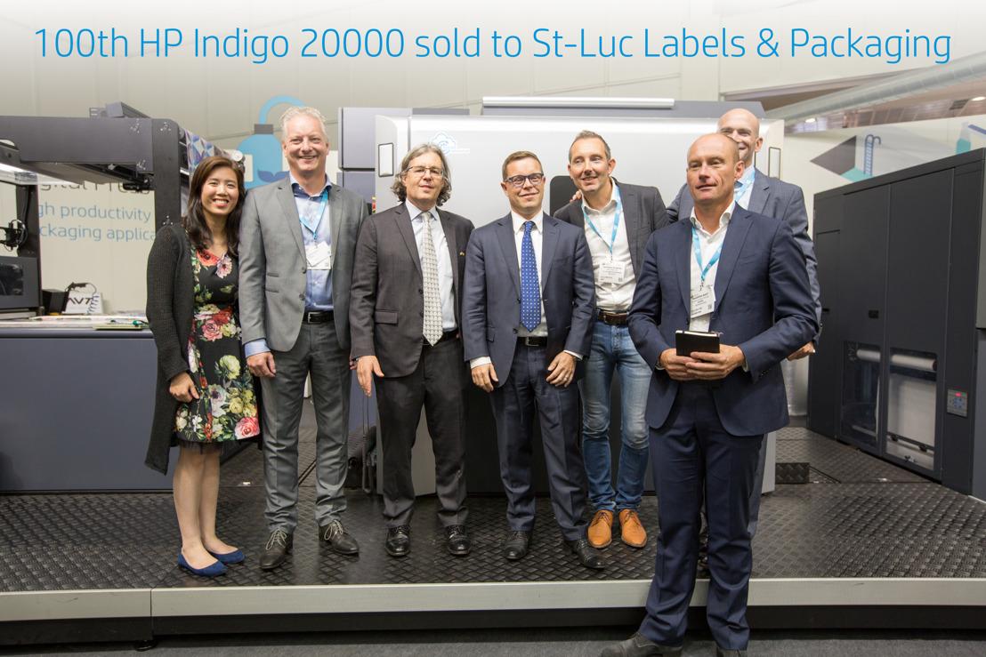 St-Luc Labels & Packaging installeert 100ste HP Indigo 20000 Digital Press en een HP Indigo 8000