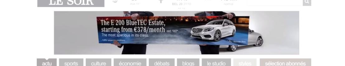 BBDO Belgium et Mercedes-Benz prouvent que la Classe E Break est la voiture la plus spacieuse de sa catégorie