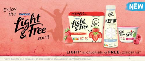 Danone lanceert nieuw zuivelassortiment met Nutri-Score A: Light & Free