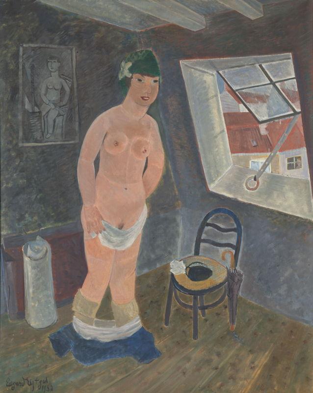 Edgard Tytgat. Meisje op mansarde, 1950, privécollectie<br/>(c) SABAM Belgium 2017