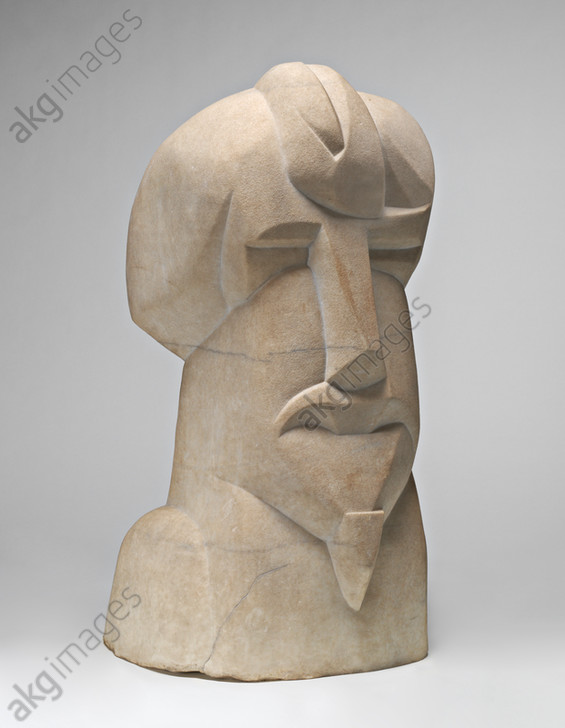 Henri Gaudier-Brzeska, Hieratic Head of Ezra Pound, 1914. Marble. National Gallery of Art, Washington DC<br/>AKG5890225