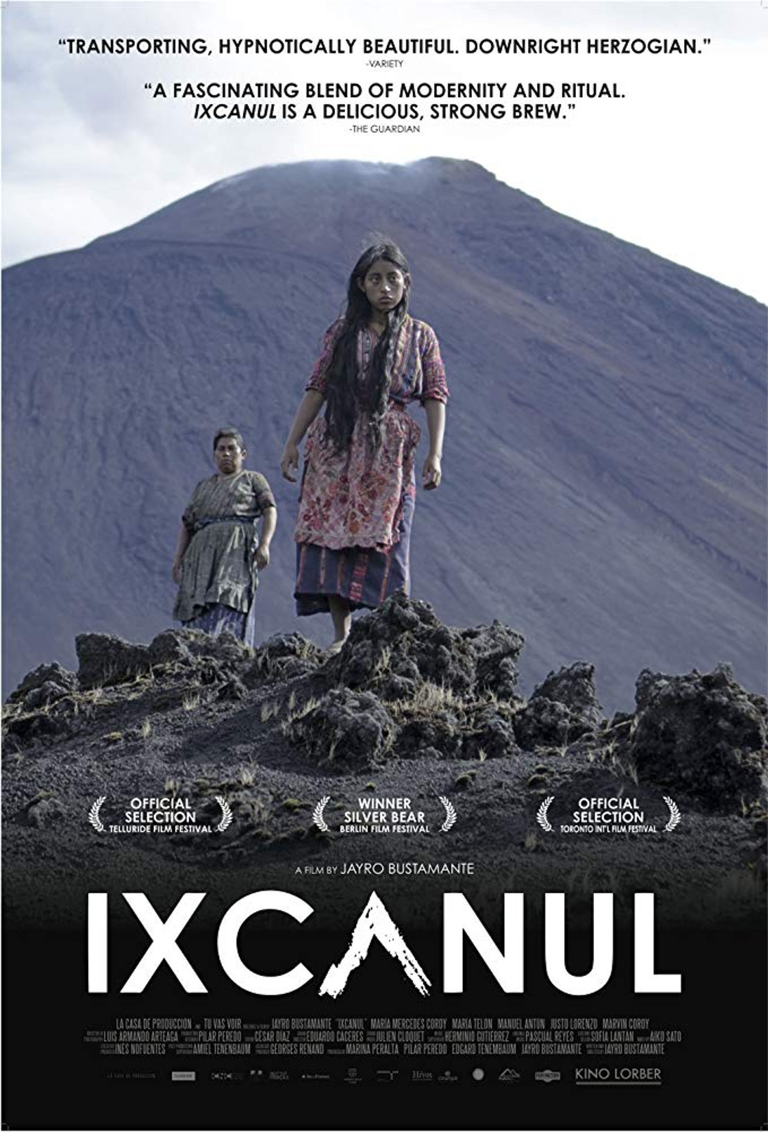 Proyección de Ixcanul en el Zocalo de la CDMX