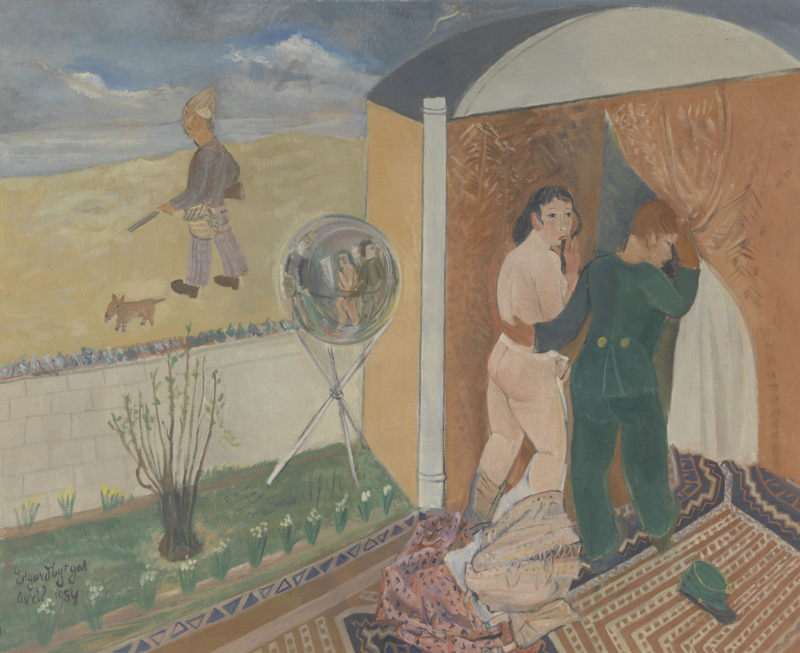 Edgard Tytgat, Als mijnheer de echtgenoot gaat jagen…, 1953, <br/>©Antwerpen, The Phoebus Foundation<br/>(c) SABAM Belgium 2017