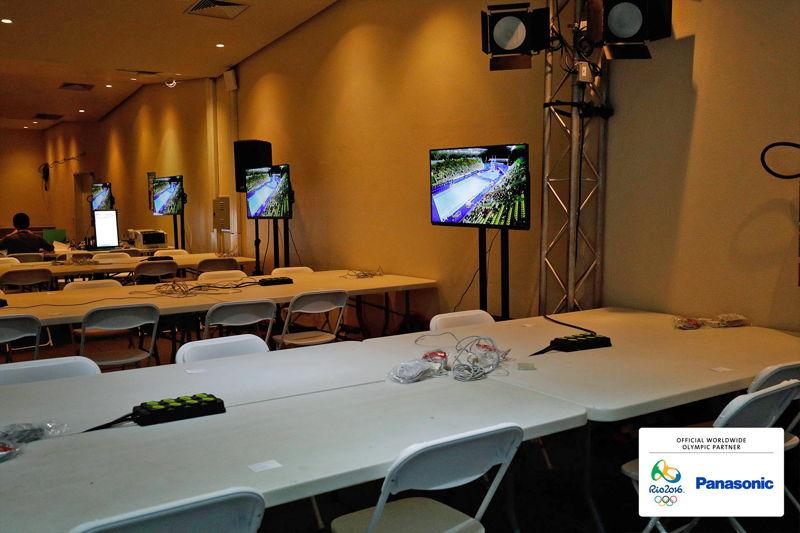 Panasonic @ JJOO Rio 2016 Equipo Video en Sala Prensa