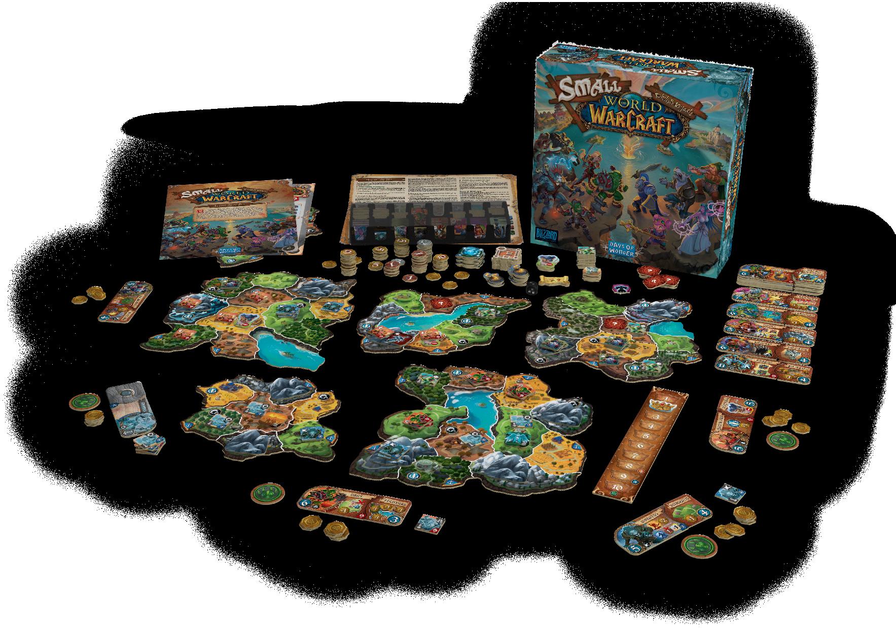 Small World of Warcraft est un jeu complet et indépendant pour 2 à 5 joueurs.