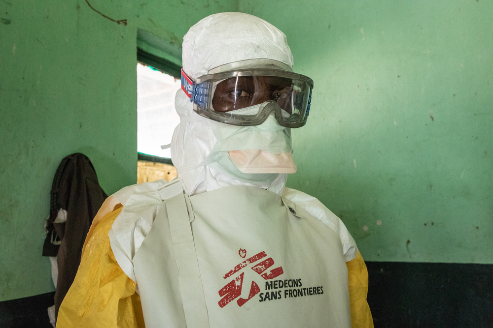 After a two-month emergency intervention in Equator Province, DRC, MSF teams have begun handing over Ebola response activities to the Congolese Ministry of Health and other non-governmental organisations. Photographer: Louise Annaud