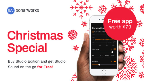 'Tis the Season for Great Sound: Sonarworks Holiday Special Bundles True-Fi Lifetime License with Reference 4