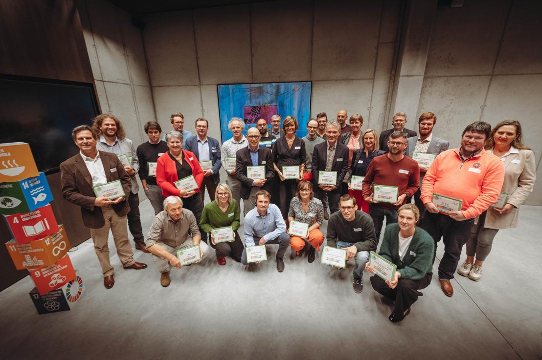 33 West-Vlaamse laureaten ontvangen het Voka Charter Duurzaam Ondernemen