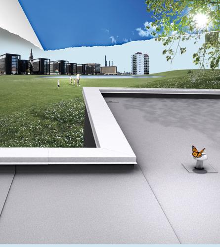 Compleet geïntegreerd daksysteem met luchtzuiverende werking