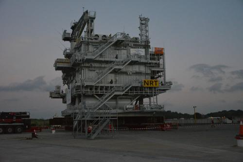 Het offshore hoogspanningsstation van Norther op weg naar het grootste offshore windpark in België