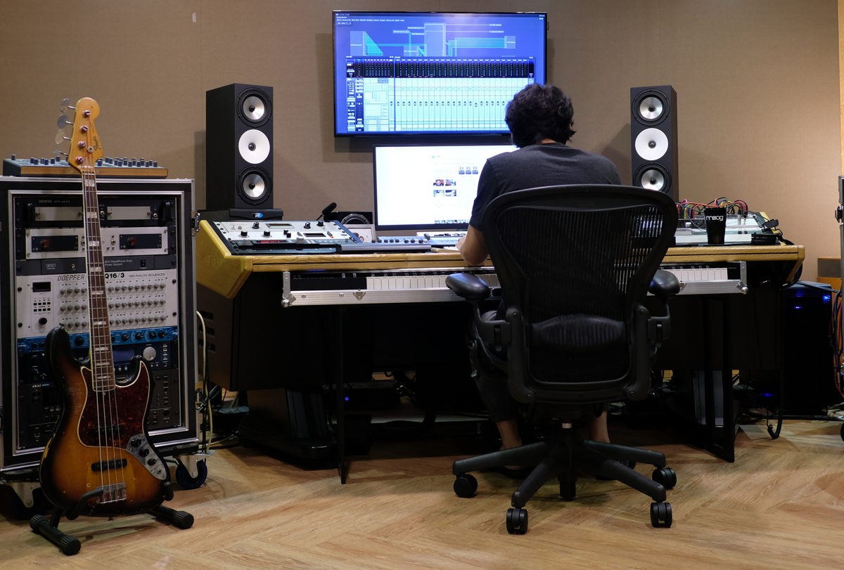 Lee Jae-Hak in his private studio in Seoul, South Korea