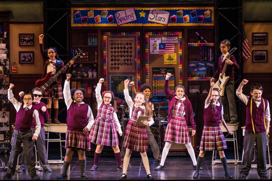 The cast of the School of Rock Tour. © Matthew Murphy