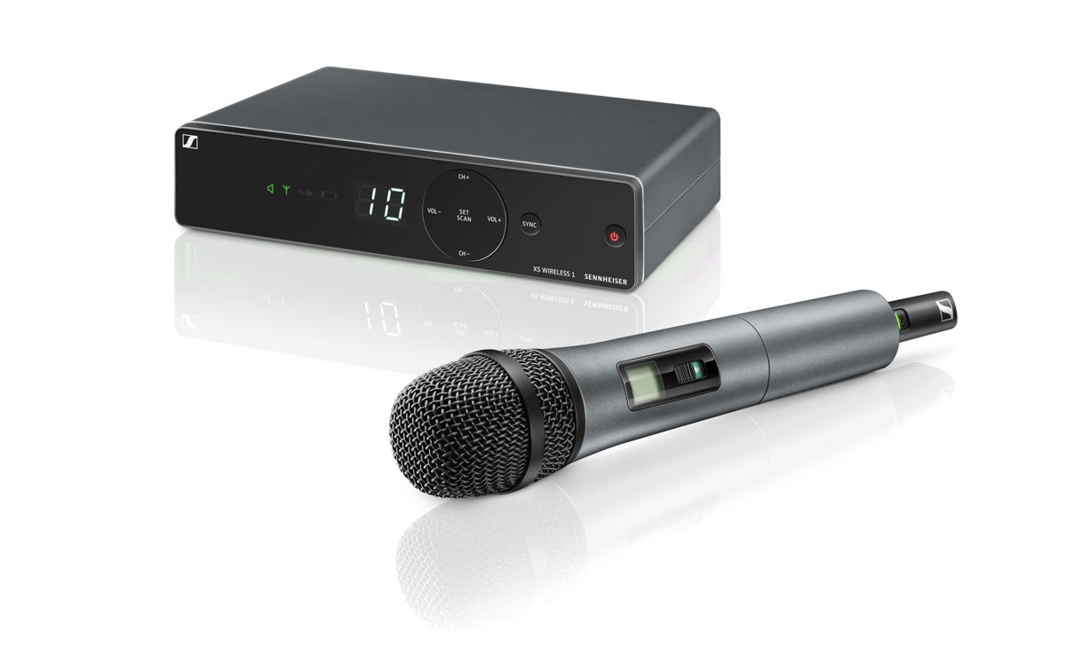 The XSW 1-835 brings you a vocal set with the renowned evolution e 835 capsule, operating in the professional UHF band
