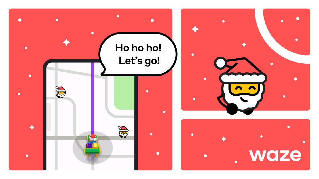 Llegó navidad a Waze con la voz de Papá Noel y más