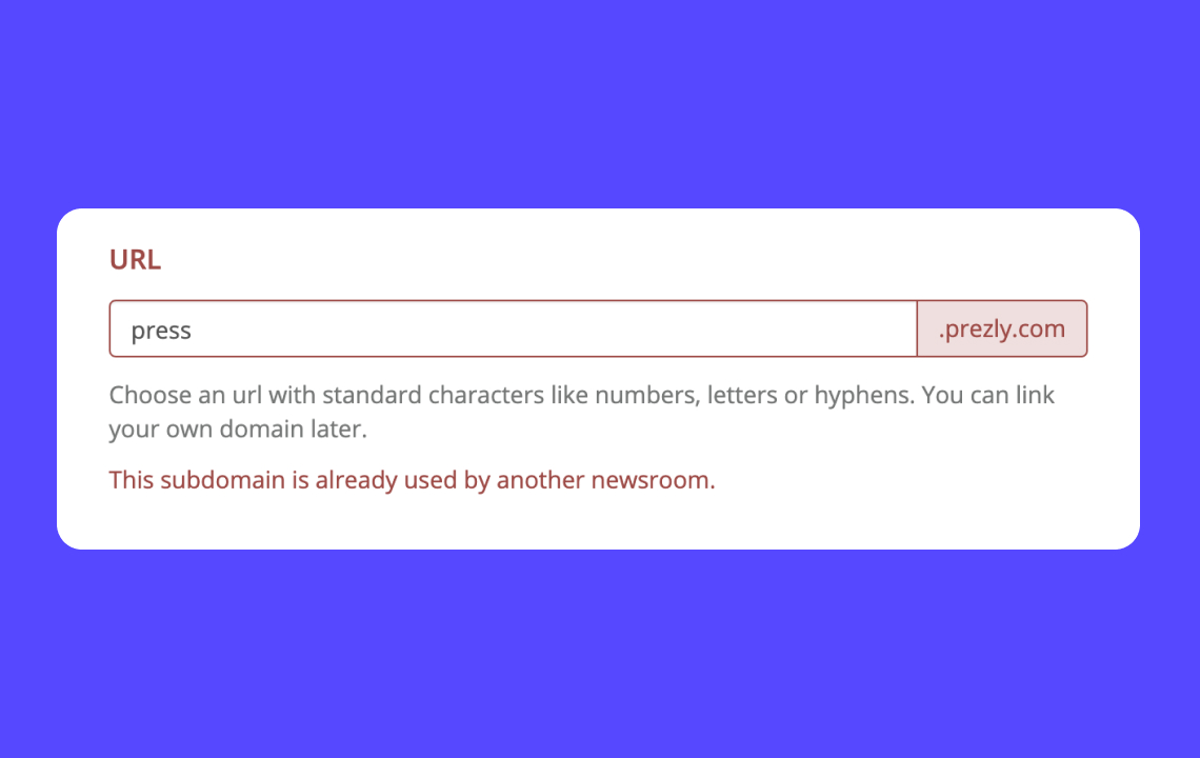 """Help: Why do I get the error """"this subdomain is already used by another newsroom""""?"""