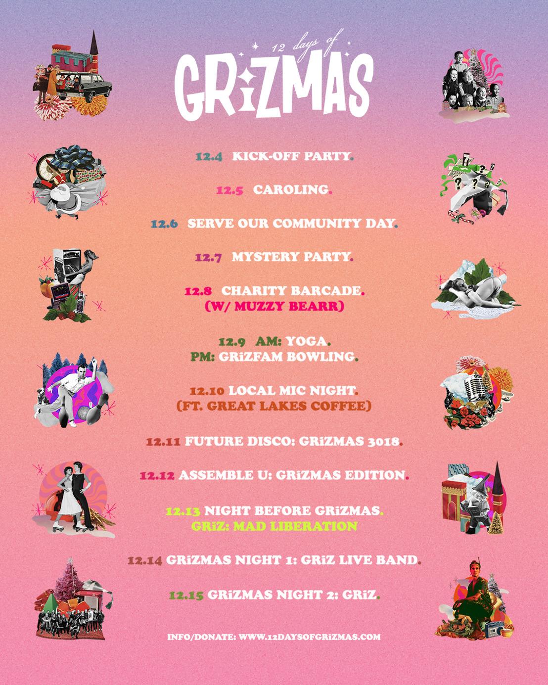 GRiZ Announces Fifth Annual 12 Days of GRiZMAS