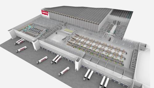 Le leader du jean denim Levi Strauss & Co. construit son centre logistique européen avec TGW
