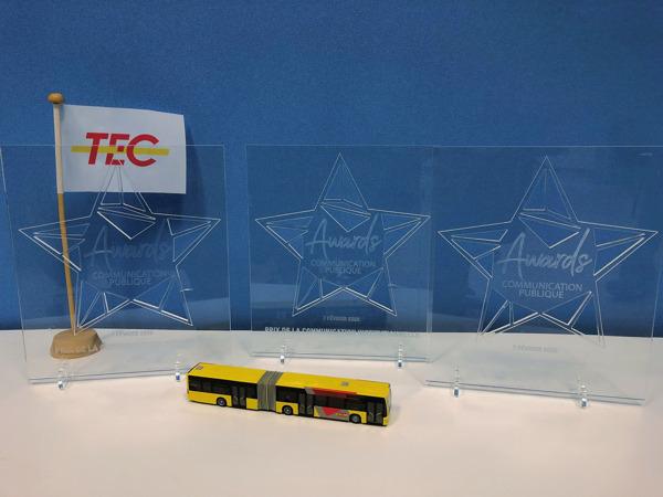 Preview: Le TEC triplement récompensé aux Awards de la Communication publique !