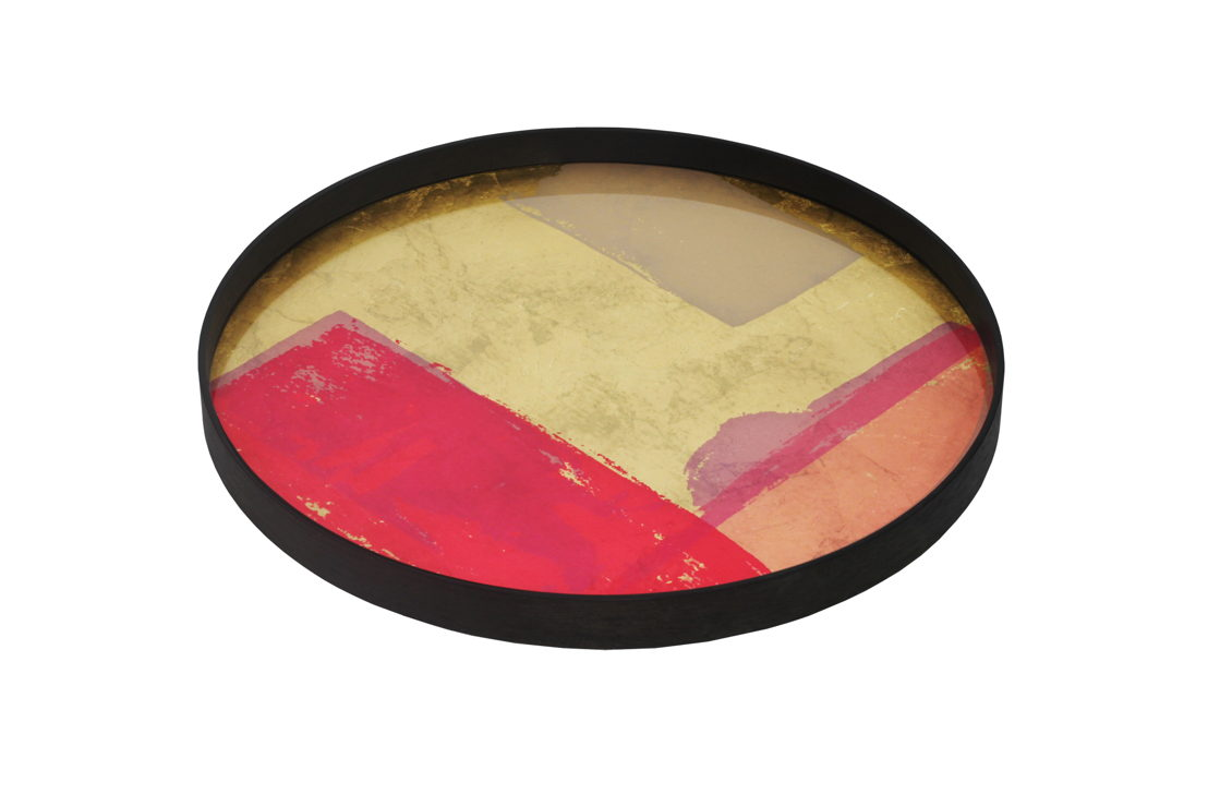 TGN-020453 Raspberry Landscape glass tray - RO-L 61x61x4_p