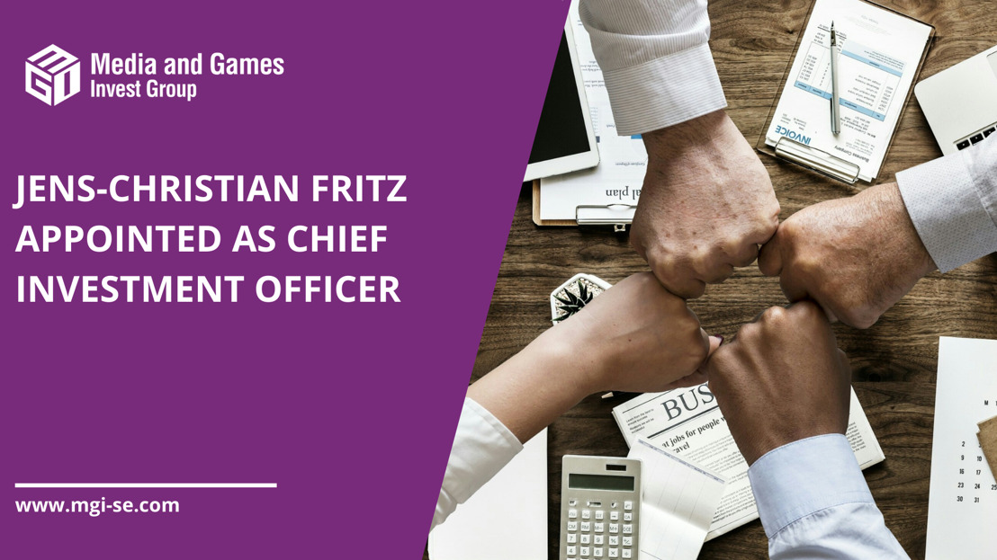 Media and Games Invest SE appoints Jens-Christian Fritz as Chief Investment Officer