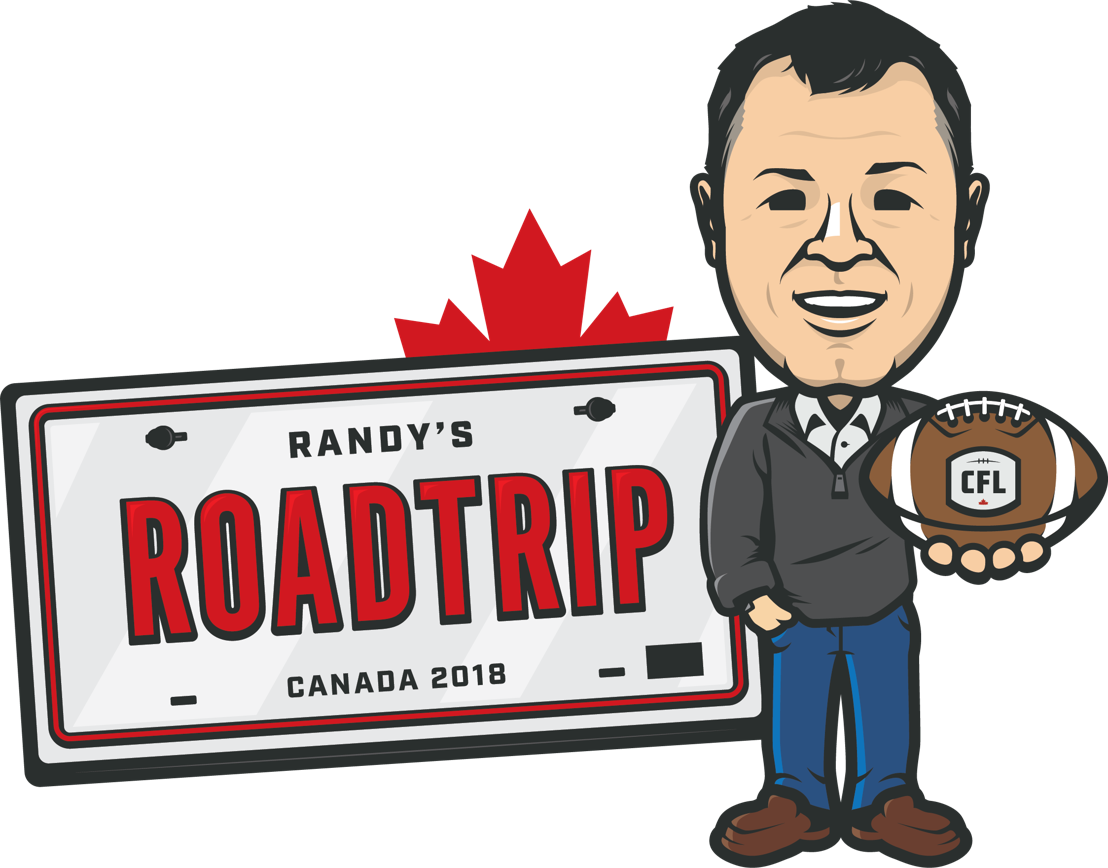 Logo for Randy's CFL Roadtrip.
