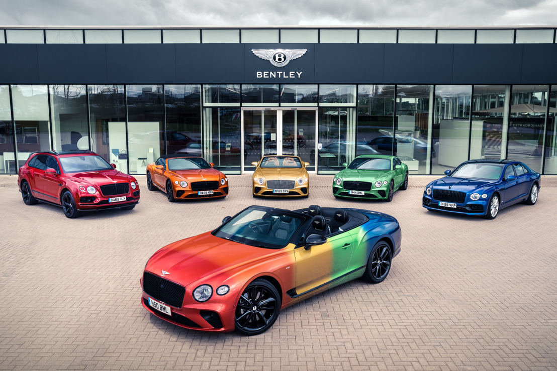 PRIDE OF PLACE FOR BENTLEY'S RAINBOW CAR
