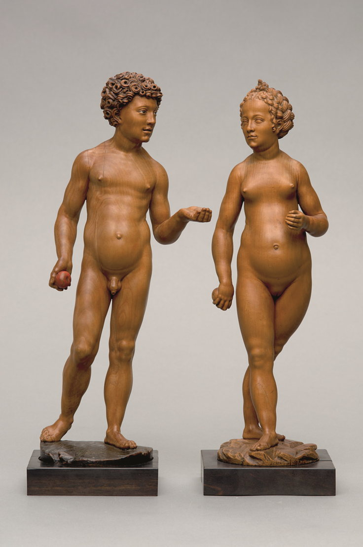 In Search of Utopia ©  Conrat Meit, Adam and Eve, Mechelen or Antwerp, c. 1530 – 1535. Vienna, Kunsthistorisches Museum.