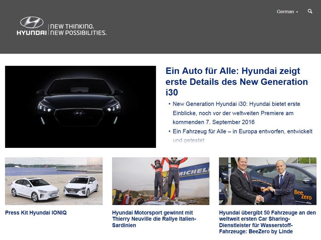 Hyundai Suisse hat eine neue Presse-Website