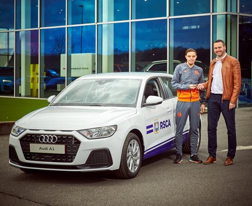 Audi a livré une A1 Sportback au joueur d'e-sport du RSC Anderlecht