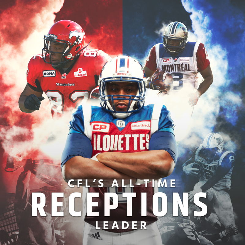 Nik Lewis is the CFL's new all-time receptions leader