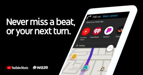 Waze integra a YouTube Music como nuevo reproductor de audio mientras conduces