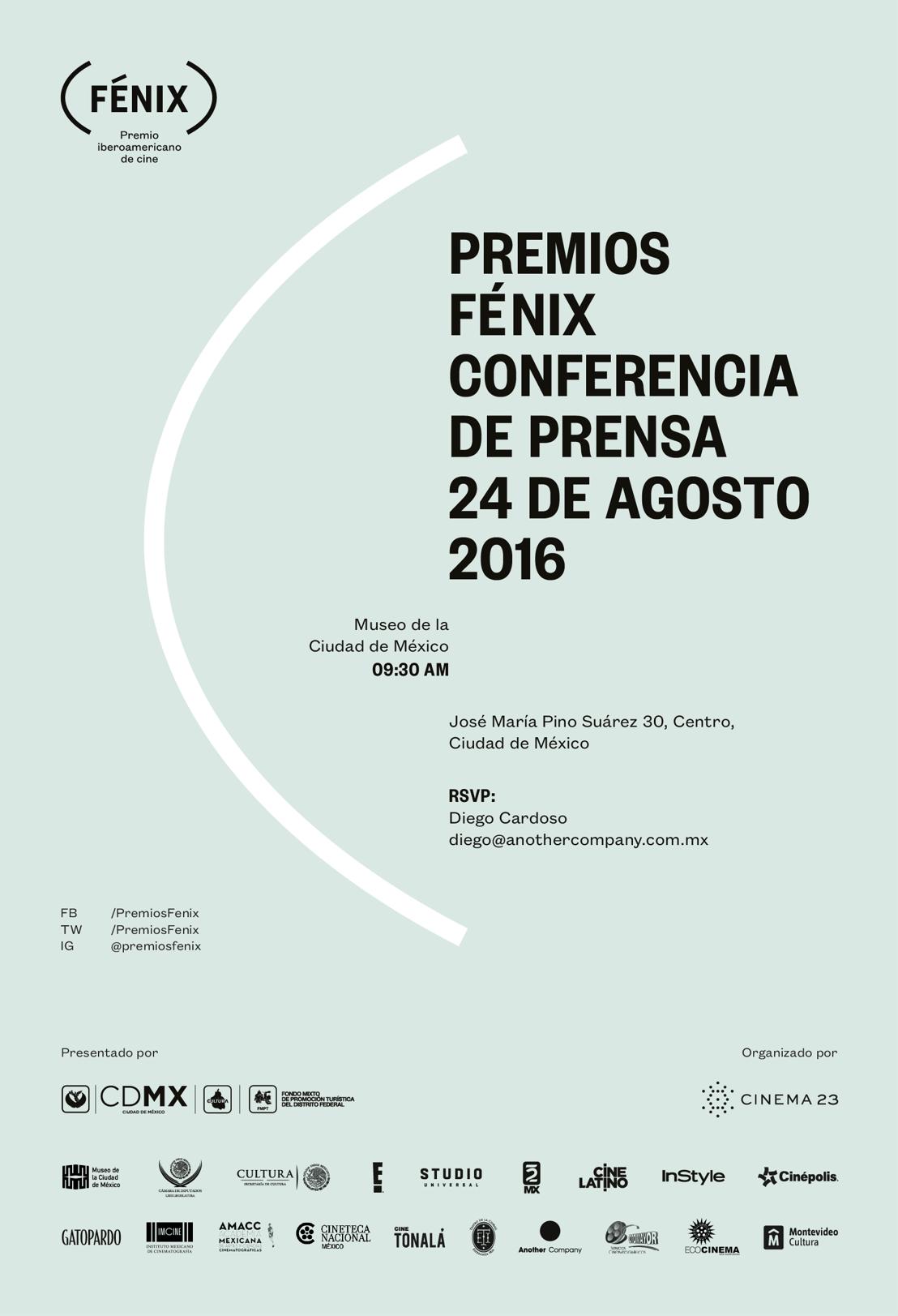 Conferencia de prensa tercera edición Premios Fénix