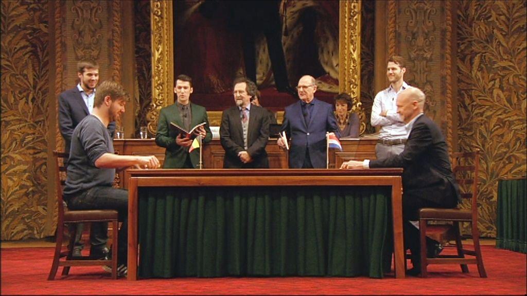 Het Groot Dictee - Bart Cannaerts en Frank Ketelaer - (c) Men at work / VRT
