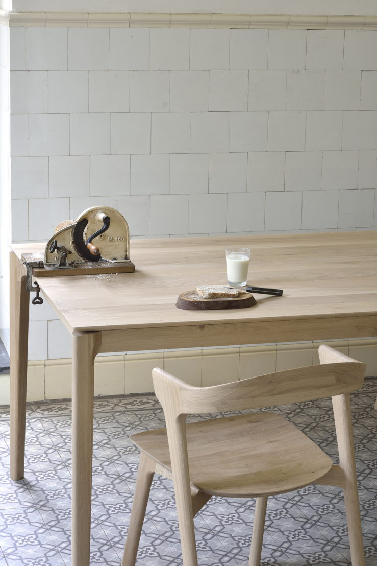Ethnicraft Oak Bok dining table and Oak Bok dining chair