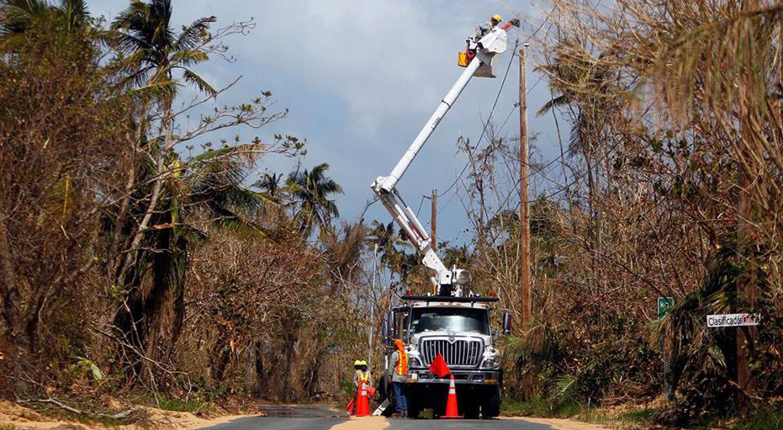 Acht Telenet-collega's helpen bij heropbouw Puerto Rico na orkaan Maria