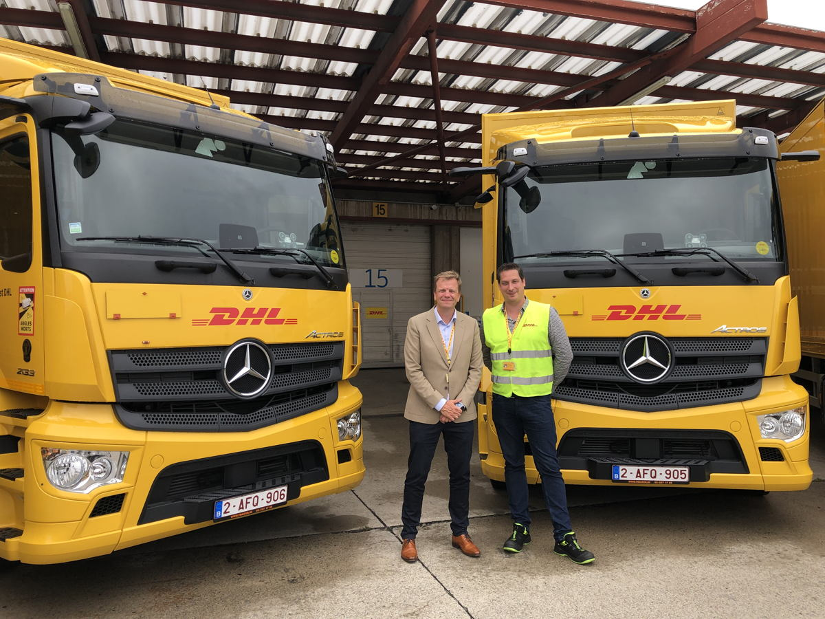 DHL Global Forwarding-CEO Luc Jacobs en Operations Director Stijn Verbeeck