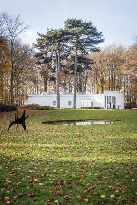 Alexander Calder, The dog, 1958 © Calder Foundation en SABAM Belgium [2016] ; Braem Pavilion, 1969-71; Photo: Ans Brys