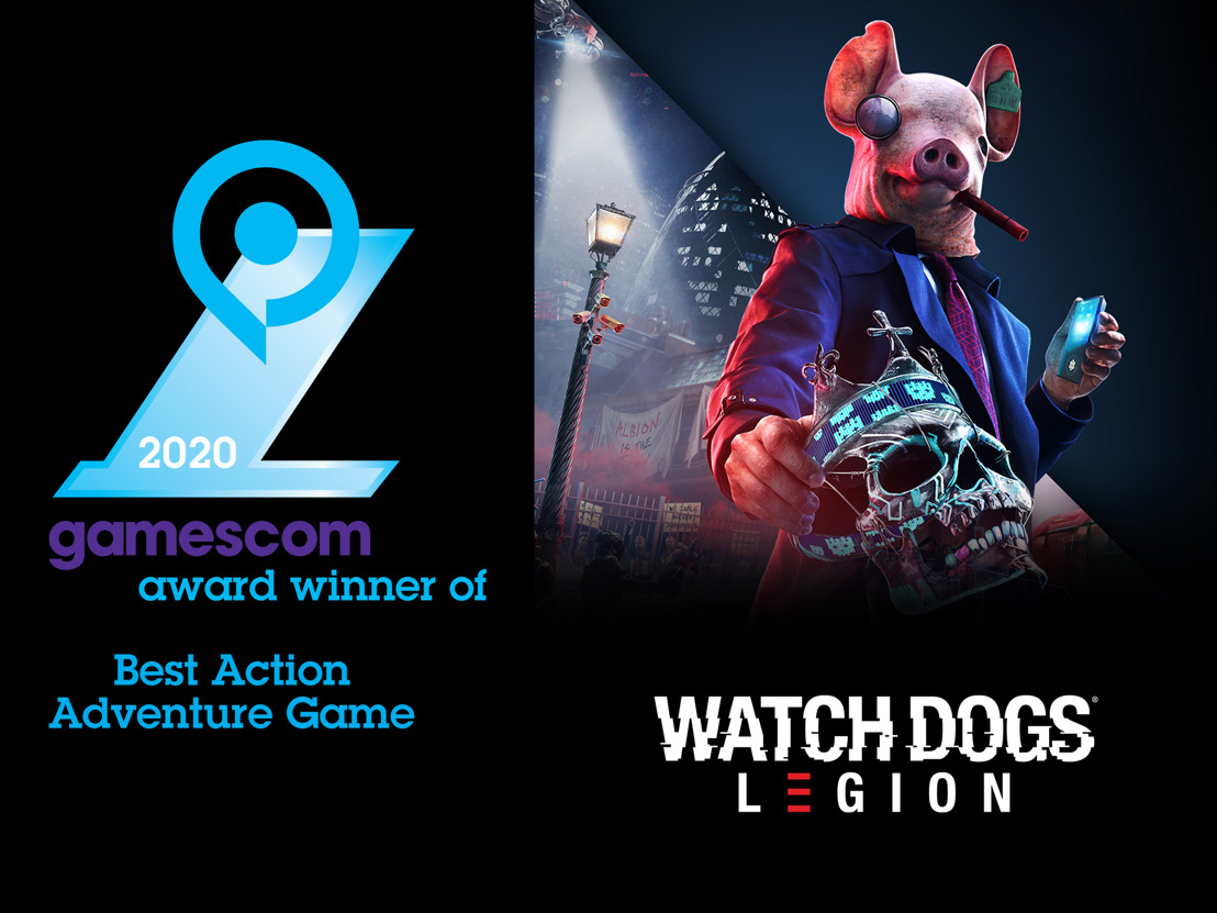 GAMESCOM 2020: WATCH DOGS LEGION ERHÄLT DEN AWARD FÜR BESTES ACTION ADVENTURE GAME