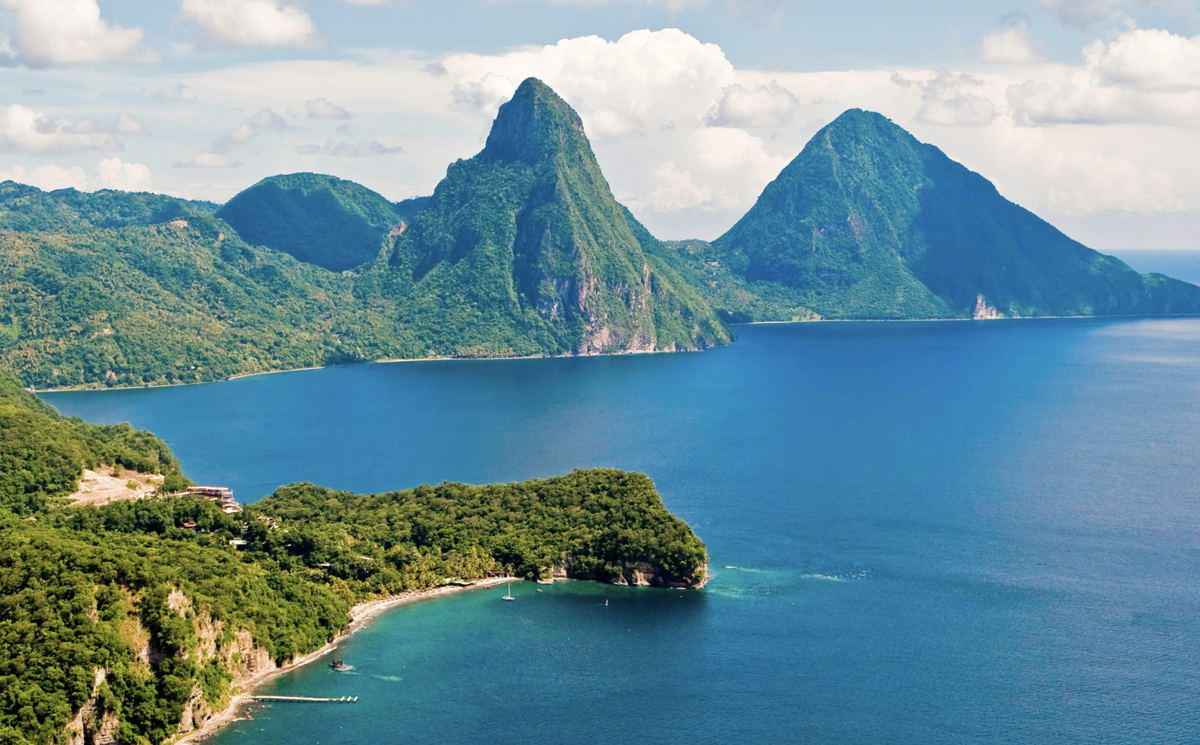 Saint Lucia's Piton Mountains