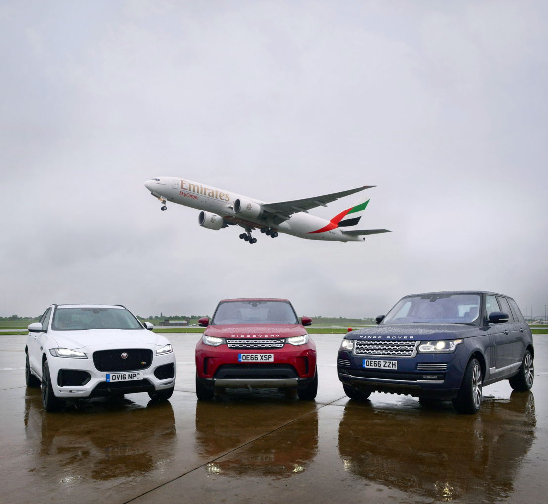 Emirates SkyCargo operates special freighter service to transport exclusive Jaguar Land Rover cars from Birmingham airport
