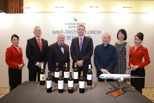Cathay Pacific introduces new selection of wines for First and Business Class passengers