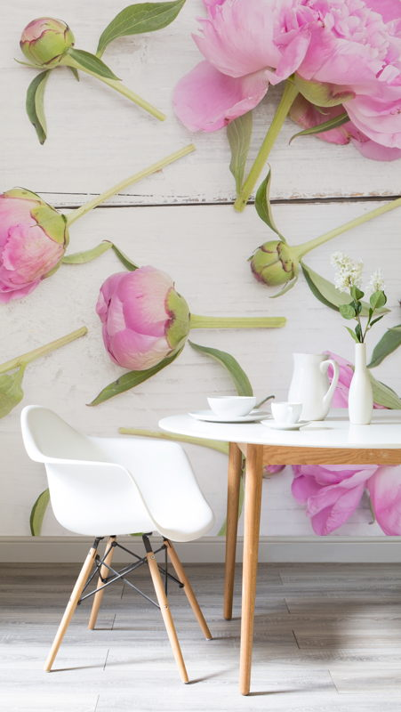 Cut Flowers Wallpaper Mural