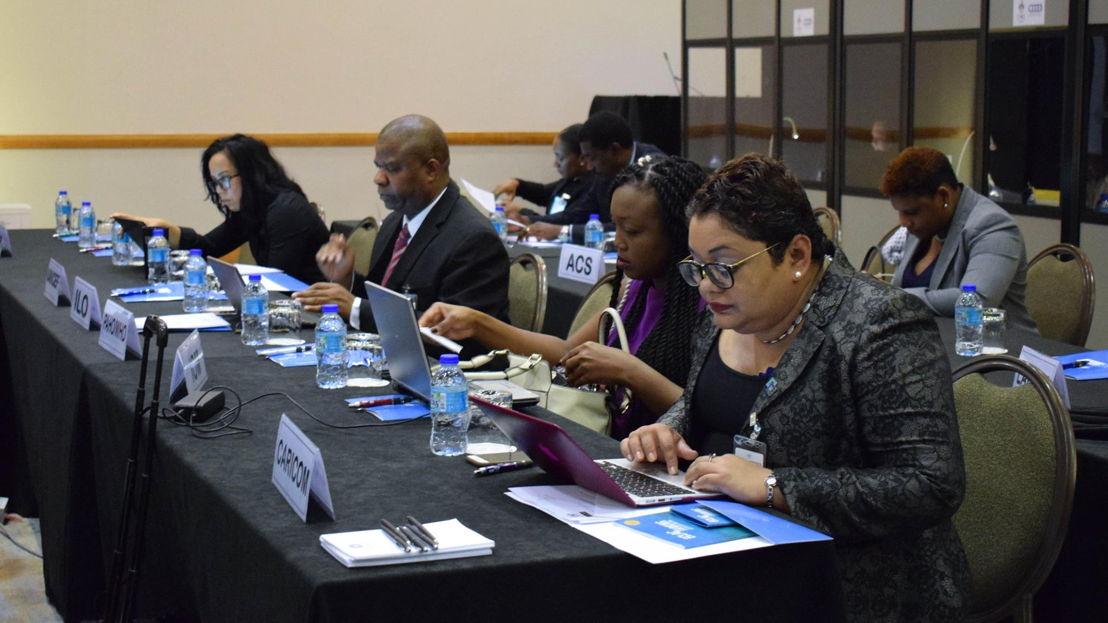 Participants at UN-ECLAC Meeting